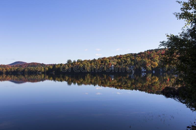 Lac-Superieur, Mont-tremblant, Quebec, Canada. View of the Lac-Superieur, in Laurentides, Mont-tremblant, Quebec, Canada stock photos