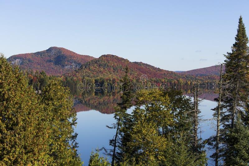 Lac-Superieur, Mont-tremblant, Quebec, Canada. View of the Lac-Superieur, in Laurentides, Mont-tremblant, Quebec, Canada stock photography