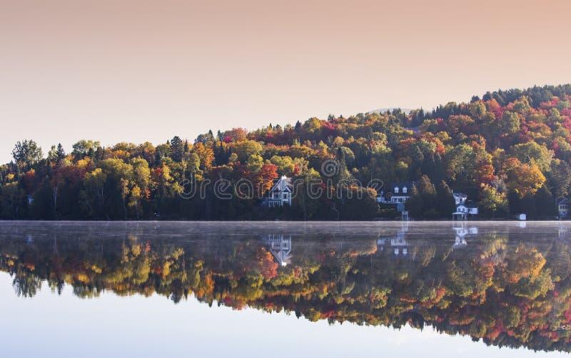 Lac-Superieur, Mont-tremblant, Quebec, Canada. View of the Lac-Superieur, in Laurentides, Mont-tremblant, Quebec, Canada royalty free stock photos