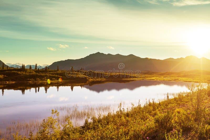 Lac sur l'Alaska image libre de droits
