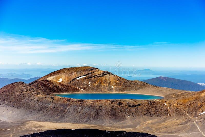 Lac sur la montagne de tongariro photo libre de droits
