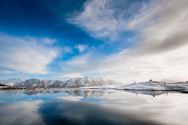 Lac sur le bettmeralp photo libre de droits