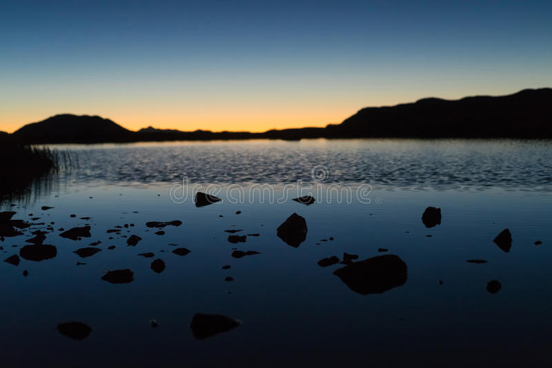 Lac sur une montagne - passage le Colorado de l'indépendance image libre de droits