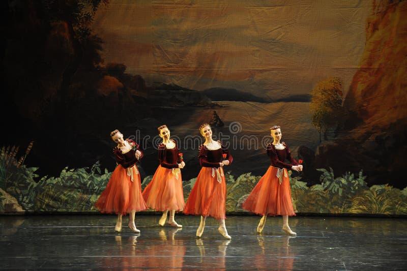 Lac swan de Boule-ballet de Rose images stock