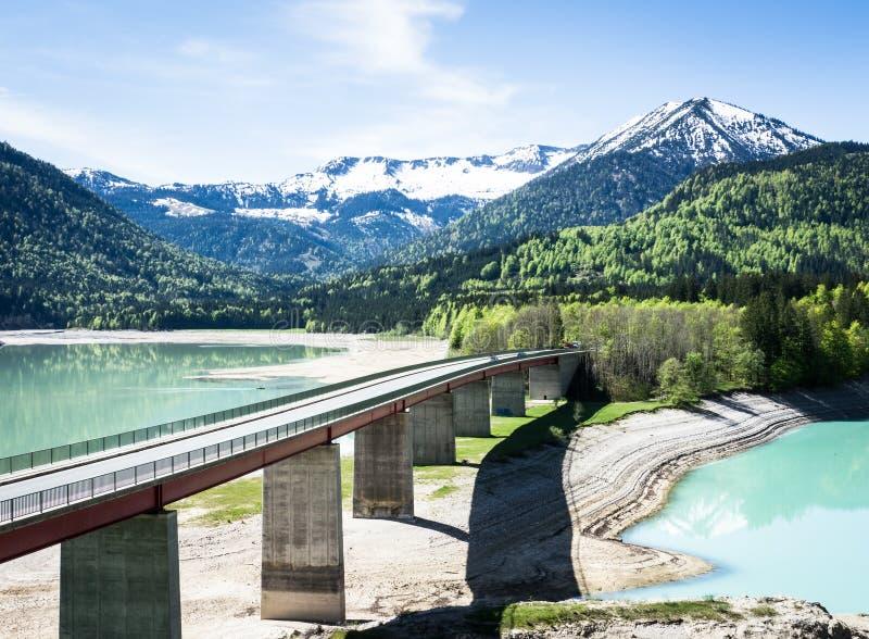 Lac Sylvenstein images libres de droits