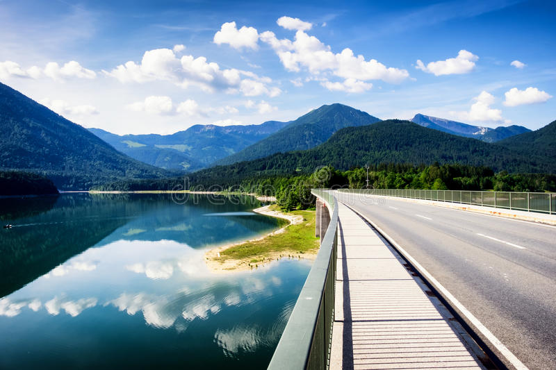 Lac Sylvenstein images stock