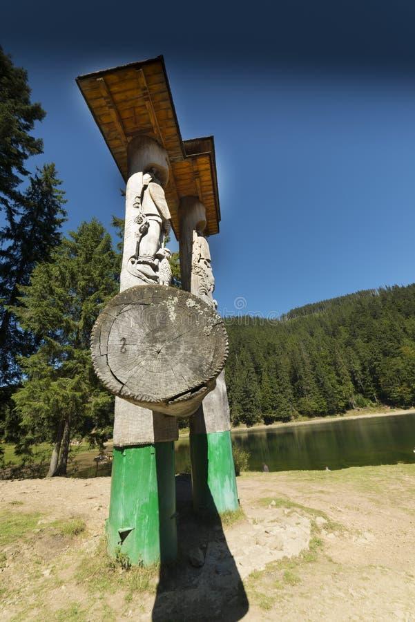 Lac Synevir Ukraine Région transcarpathienne photos libres de droits