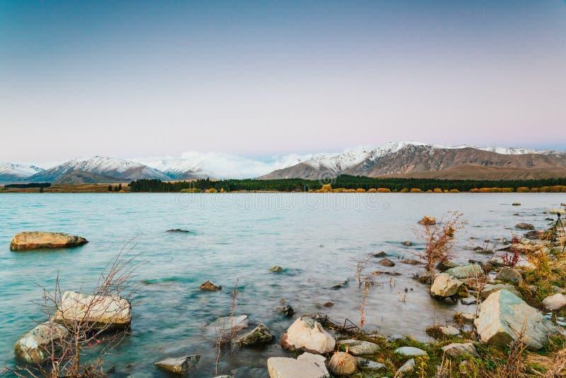 Lac Tekapo, île du sud, Nouvelle-Zélande image stock
