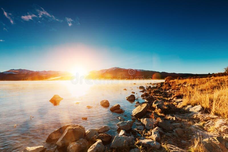 Lac Tekapo, île du sud, Nouvelle-Zélande photos libres de droits