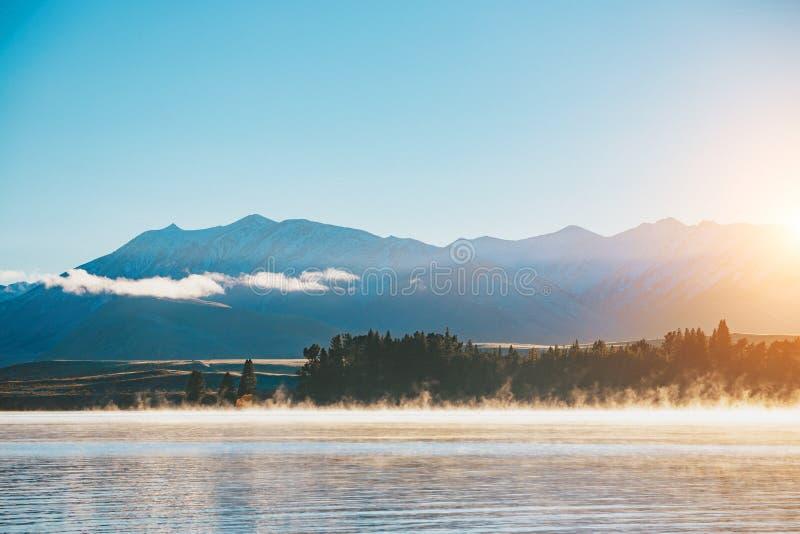 Lac Tekapo, île du sud, Nouvelle-Zélande photo libre de droits