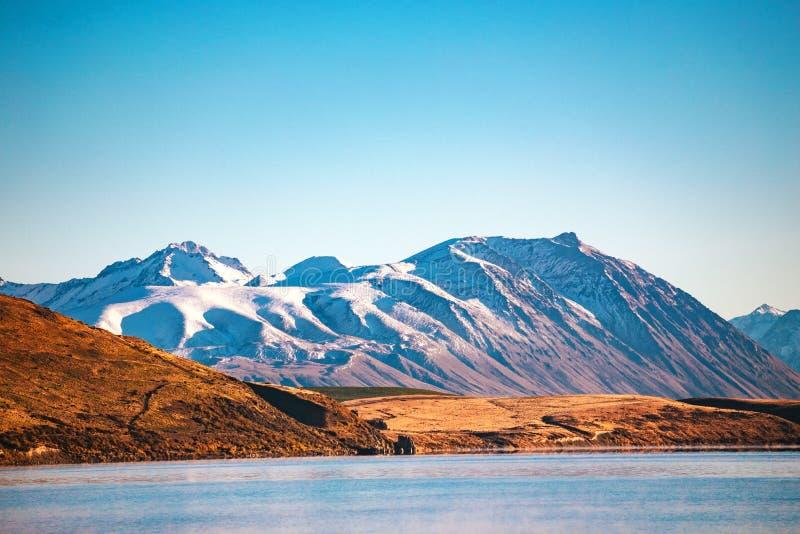 Lac Tekapo, île du sud, Nouvelle-Zélande images libres de droits