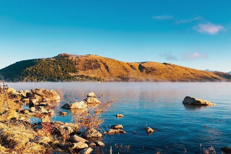 Lac Tekapo, île du sud, Nouvelle-Zélande photos stock