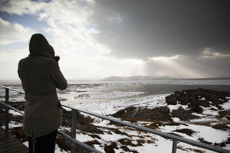 Lac Thingvellir, Islande images libres de droits