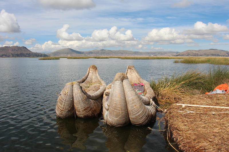 Lac Titicaca peru images libres de droits