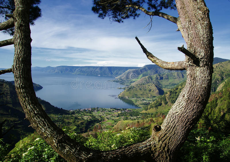 Lac toba photographie stock