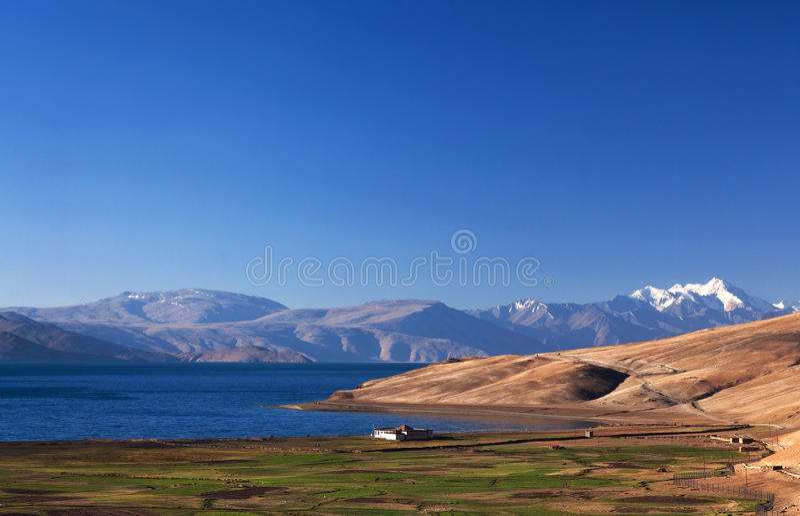 Lac tso Moriri dans Ladakh, Inde image libre de droits