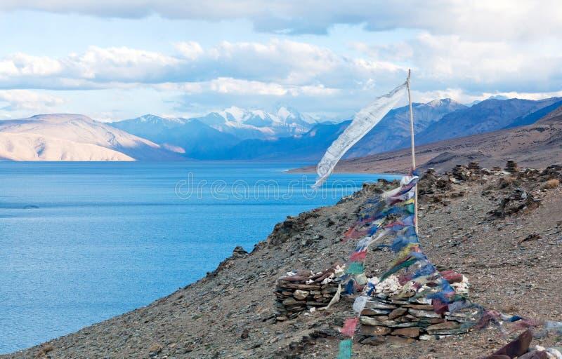 Lac tso Moriri dans Ladakh, Inde du nord image libre de droits