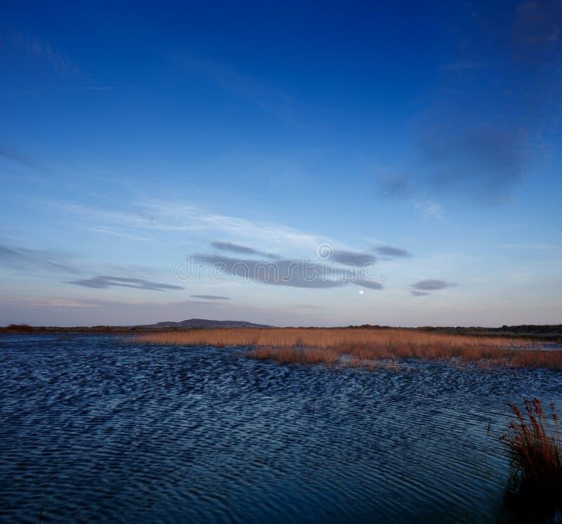 Lac un jour venteux à vers le bas photographie stock libre de droits