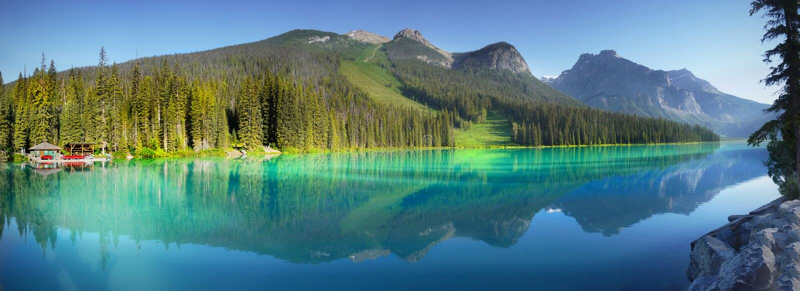 Lac vert, stationnement national de Yoho, Canada photographie stock