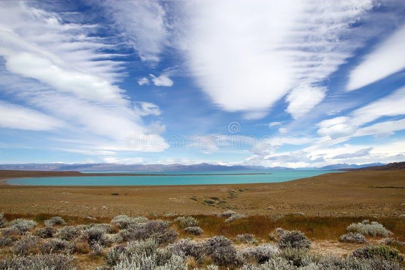 Lac Viedma, Patagonia près de la frontière entre l'Argentine et le Chili image stock