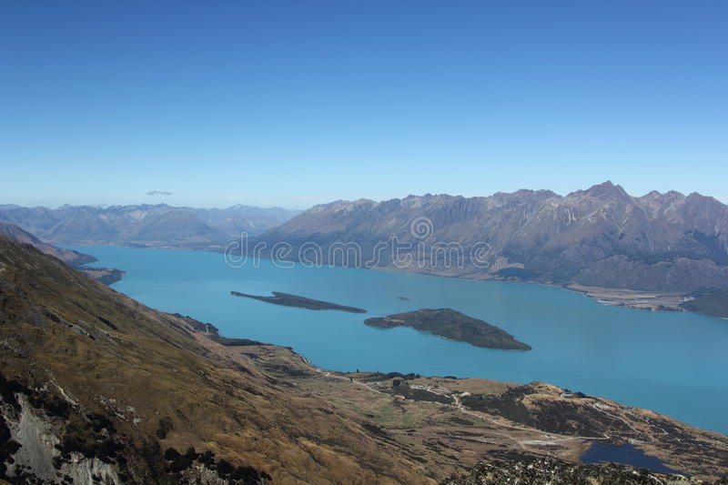 Lac Wakatipu, Nouvelle-Zélande photographie stock