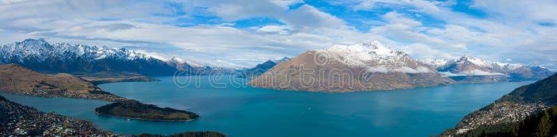 Lac Wakatipu, Queenstown Nouvelle-Zélande image libre de droits