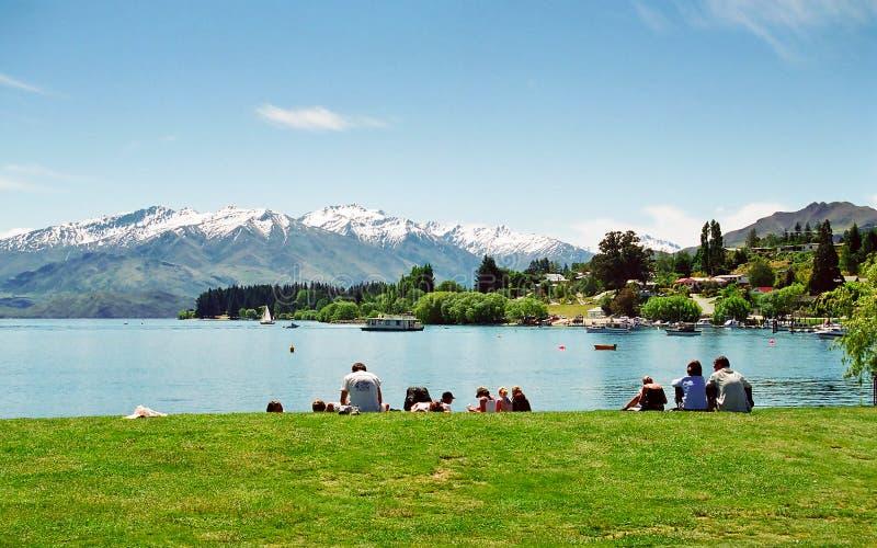 Lac Wanaka, Nouvelle Zélande photo libre de droits