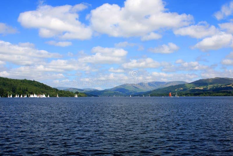 Lac Windermere, Cumbria, Angleterre photos libres de droits