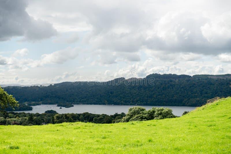 Lac Windermere en parc national de secteur anglais de lac, Cumbria photos libres de droits