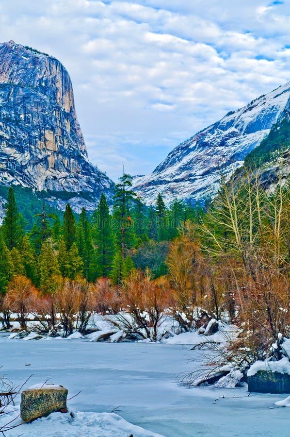 Lac Yosemite mirror photo stock