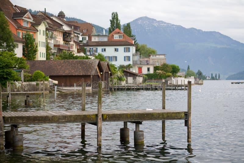 Lac Zug en Suisse photo stock