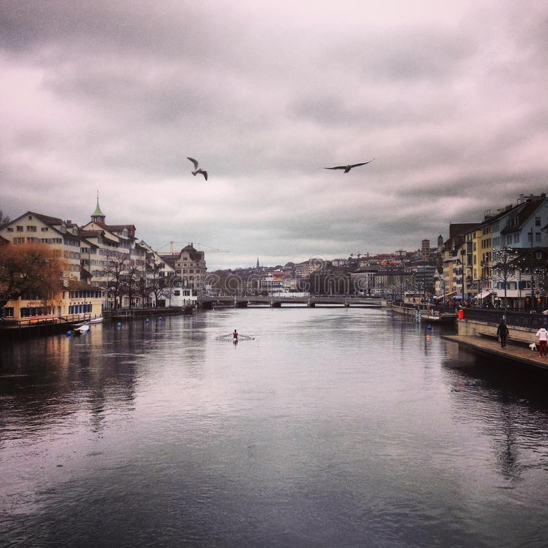 Lac zurich photo stock