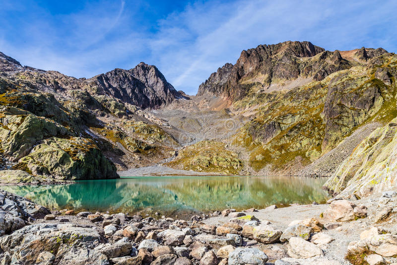 Laca Blanc con DES Colorete-Francia de Aiguilles imagenes de archivo