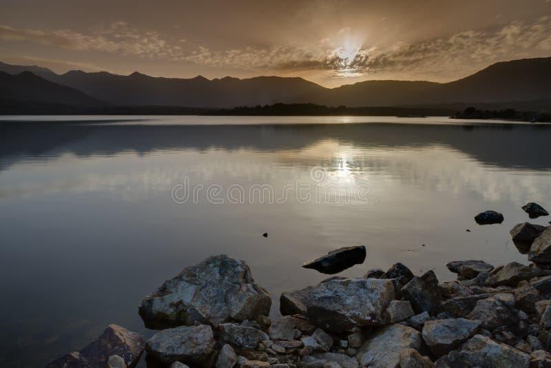 Laca de Codole, vale de Reginu em Córsega foto de stock royalty free