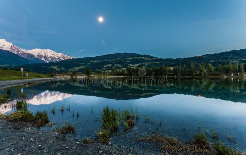 Laca Du Passy, Haute Sabóia, France foto de stock royalty free