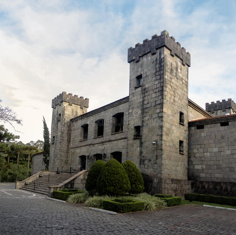 Lacave城堡酿酒厂和餐馆-南卡希亚斯,南里奥格兰德州,巴西 库存图片