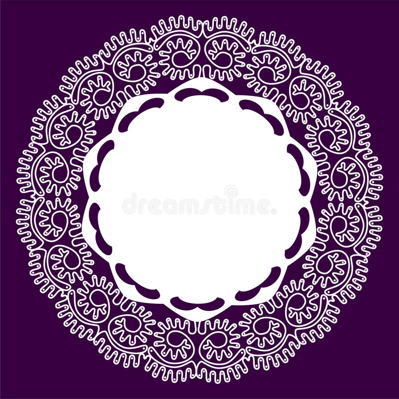 Download Lace stock vector. Image of decorate, design, icon, decorative - 19844020