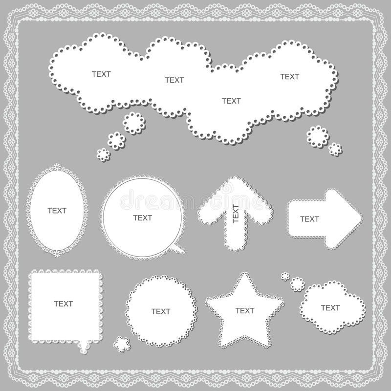 Download Lace stock vector. Illustration of lace, notice, free - 24263948