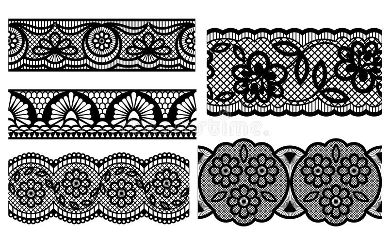 Download Lace stock vector. Image of texture, blossom, classic - 25851028