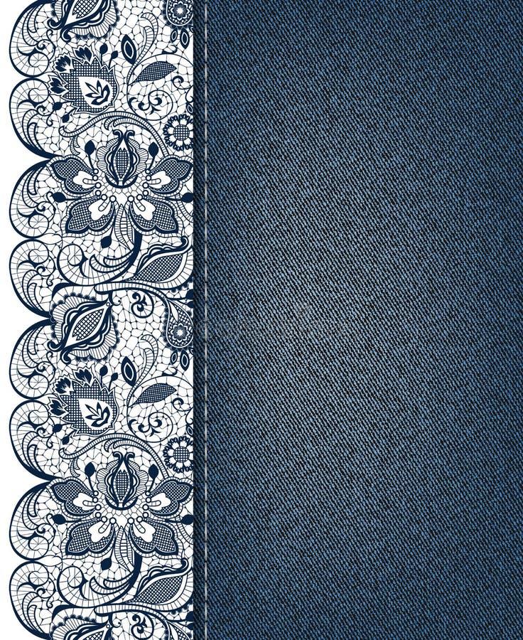 Lace background stock illustration
