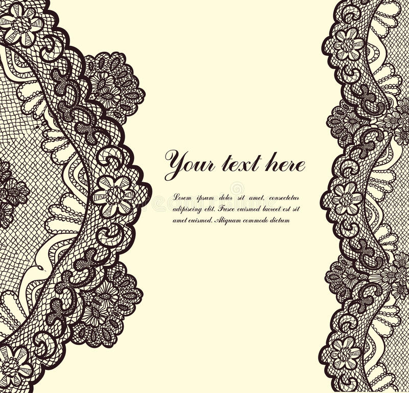Download Lace background stock vector. Image of antique, elegant - 31609685