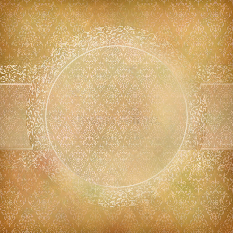 Lace Banner Card Abstract Vintage Background stock illustration