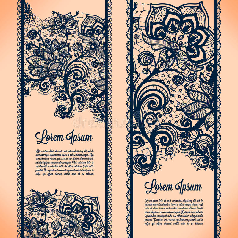 Free Lace Banners Royalty Free Stock Photography - 40924687
