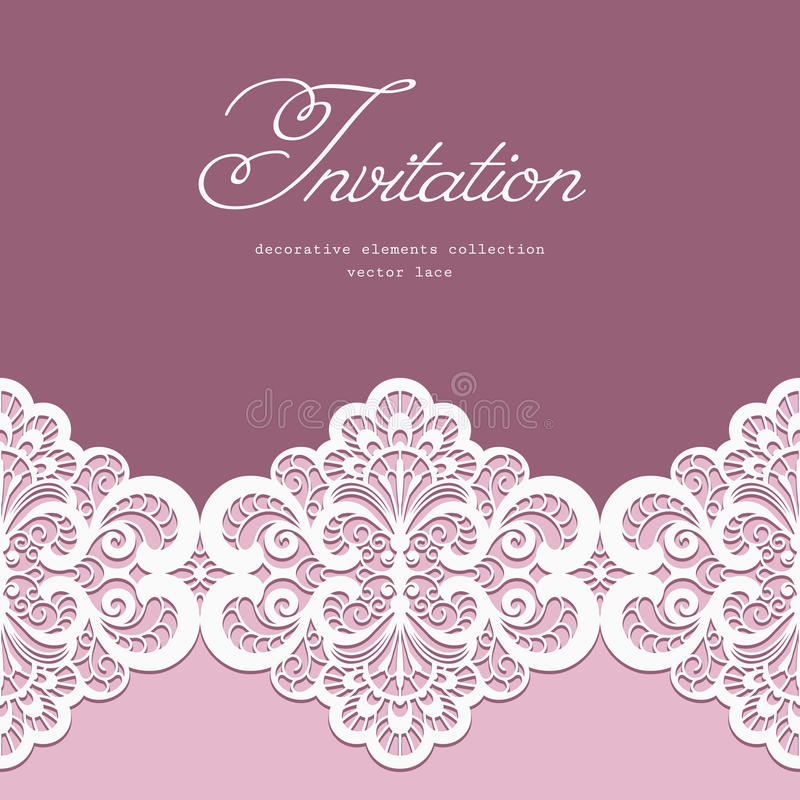 lace border template stock vector  image 52057876