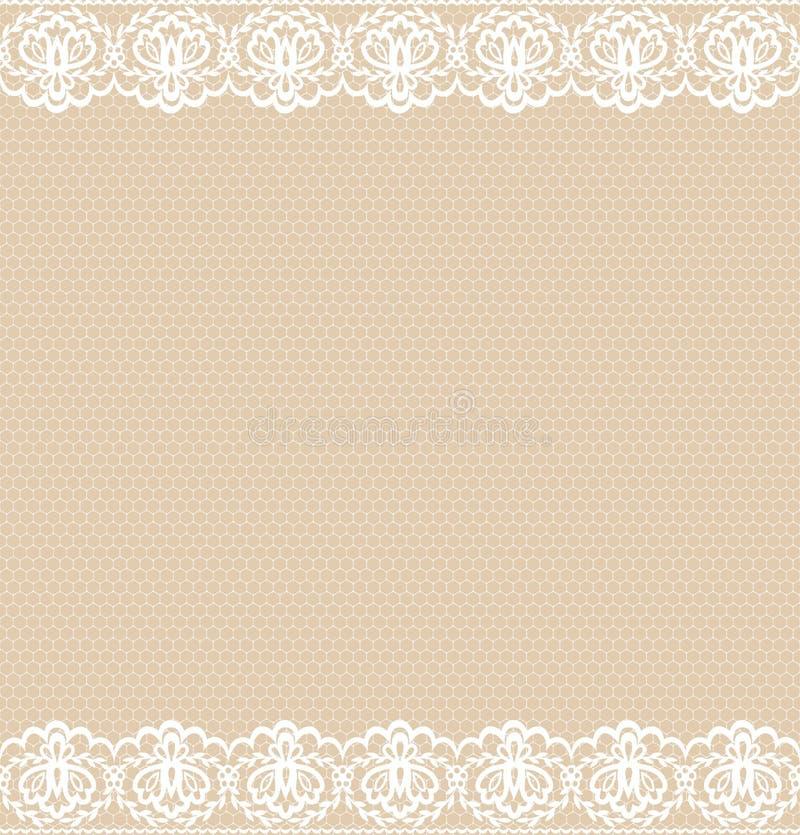 Wedding Invitation Template White Lace Border Stock Illustration