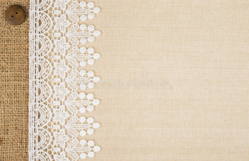 Royalty Free Burlap And Lace Background
