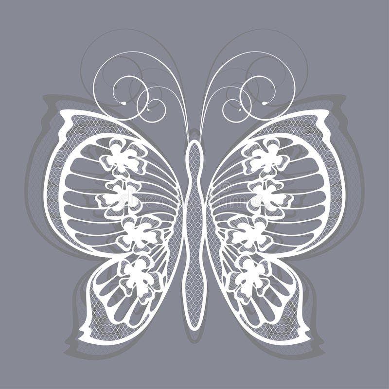 Download Lace butterfly stock vector. Illustration of clip, drawing - 26930864