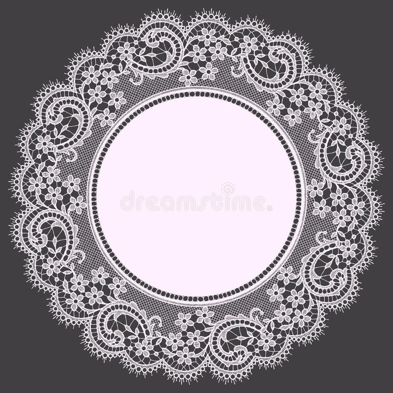 lace doily royaltyfri illustrationer