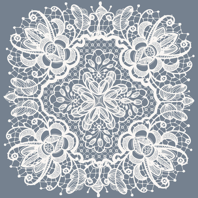 Lace Doily Patterns With Elements Abstract Flowers Royalty