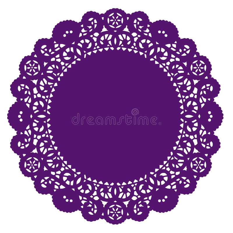 Free Lace Doily Placemat, Purple Stock Photo - 6346770